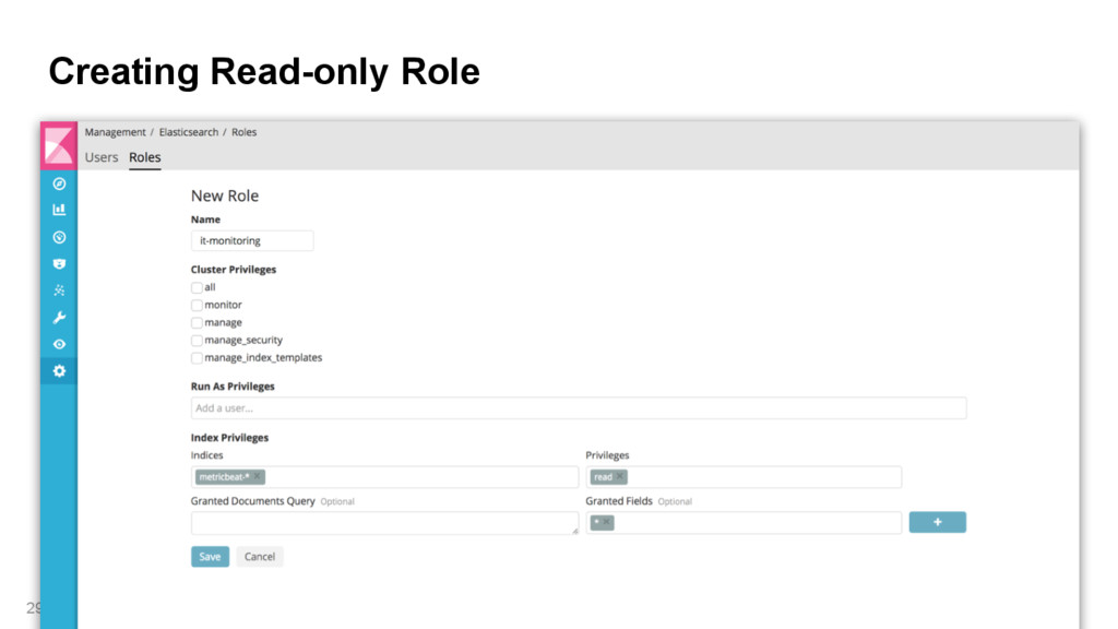 Creating Read-only Role 29