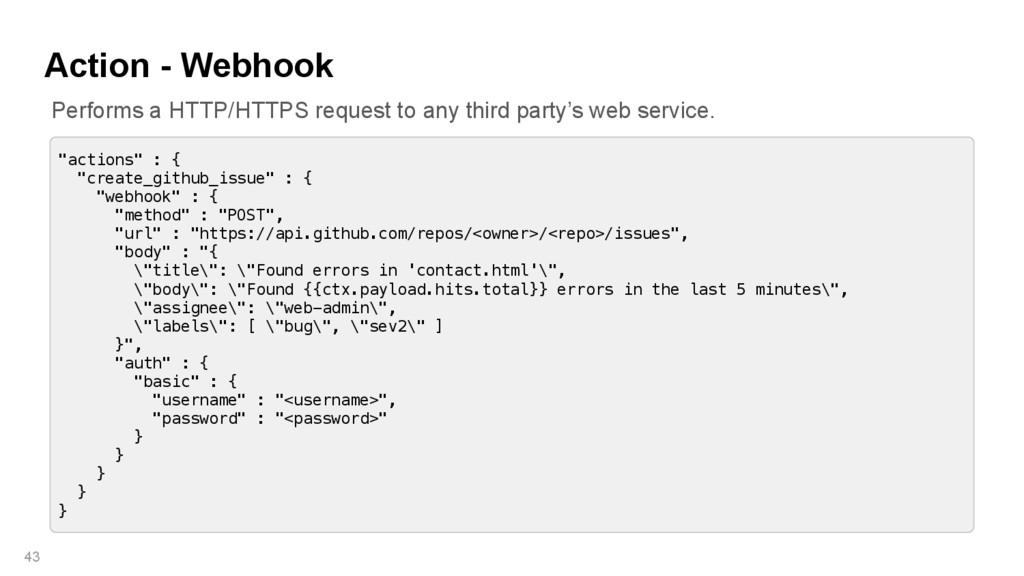 """Action - Webhook 43 """"actions"""" : { """"create_githu..."""