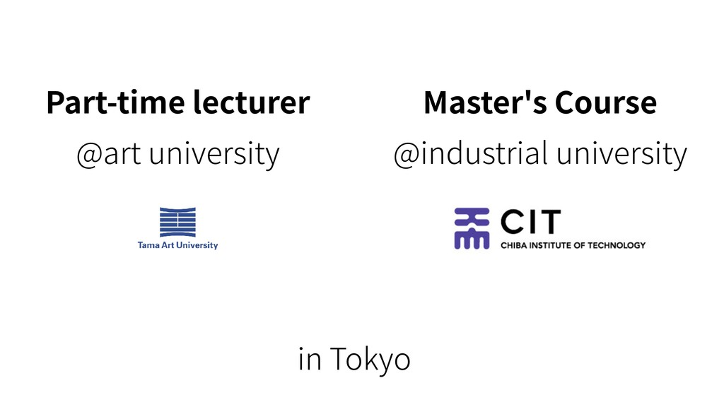 Part-time lecturer @art university Master's Cou...