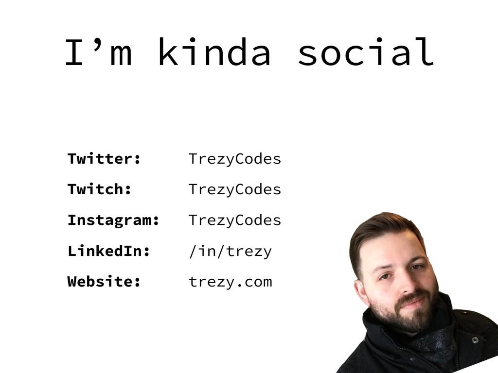 I'm kinda social Twitter: TrezyCodes Twitch: Tr...