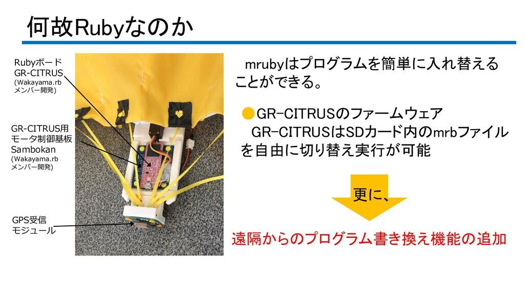 何故Rubyなのか Rubyボード GR-CITRUS (Wakayama.rb メンバー開発...