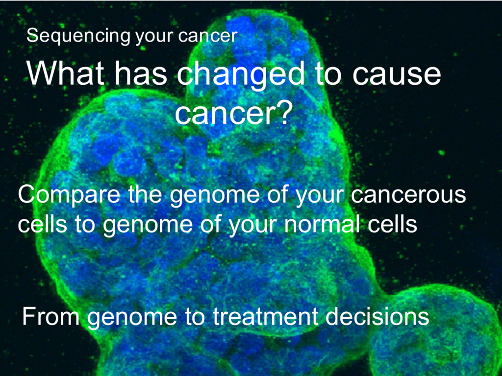 Compare the genome of your cancerous cells to g...