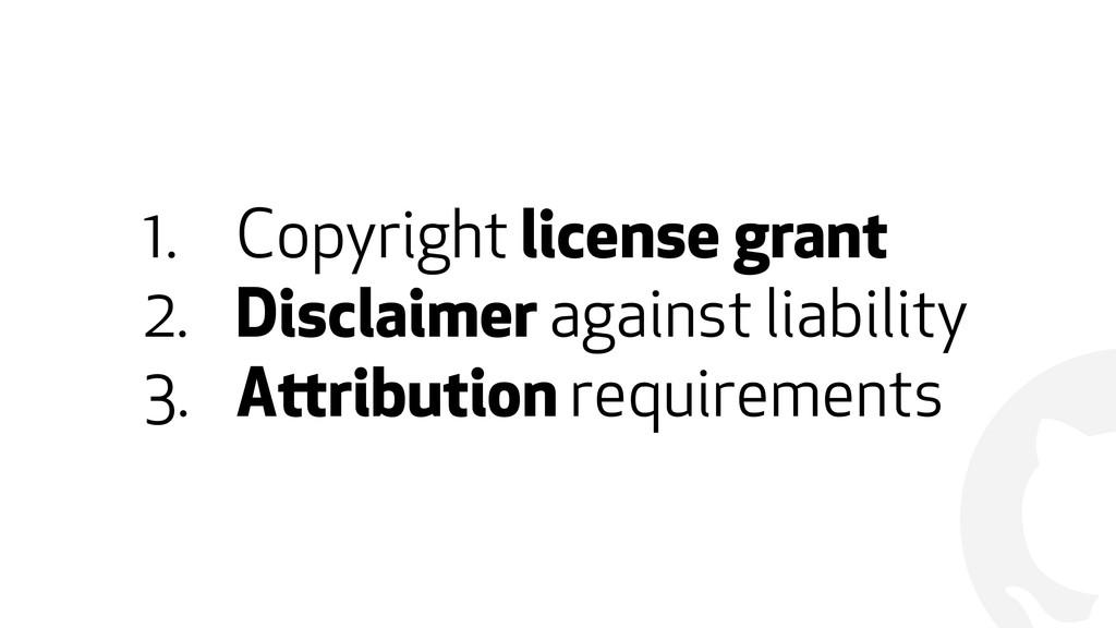 ! 1. Copyright license grant 2. Disclaimer agai...