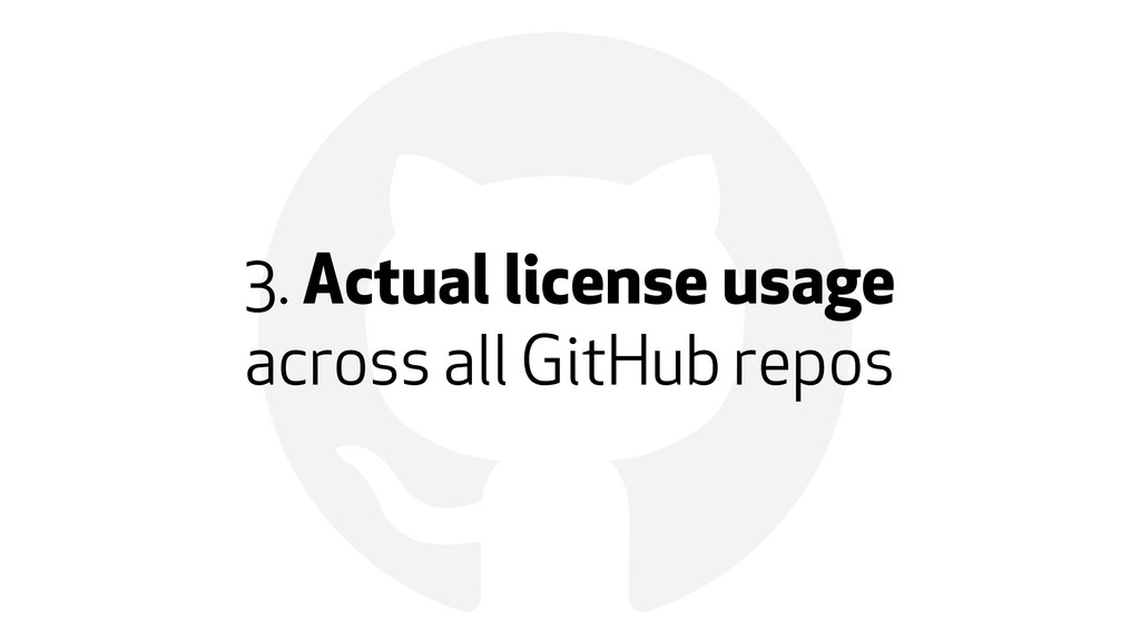! 3. Actual license usage 