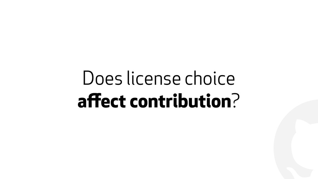 ! Does license choice 