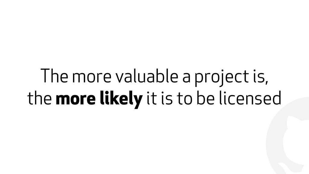 ! The more valuable a project is, 