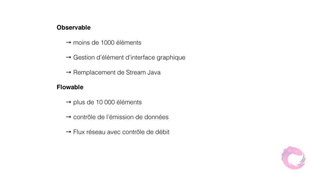 Observable → moins de 1000 éléments → Gestion d...