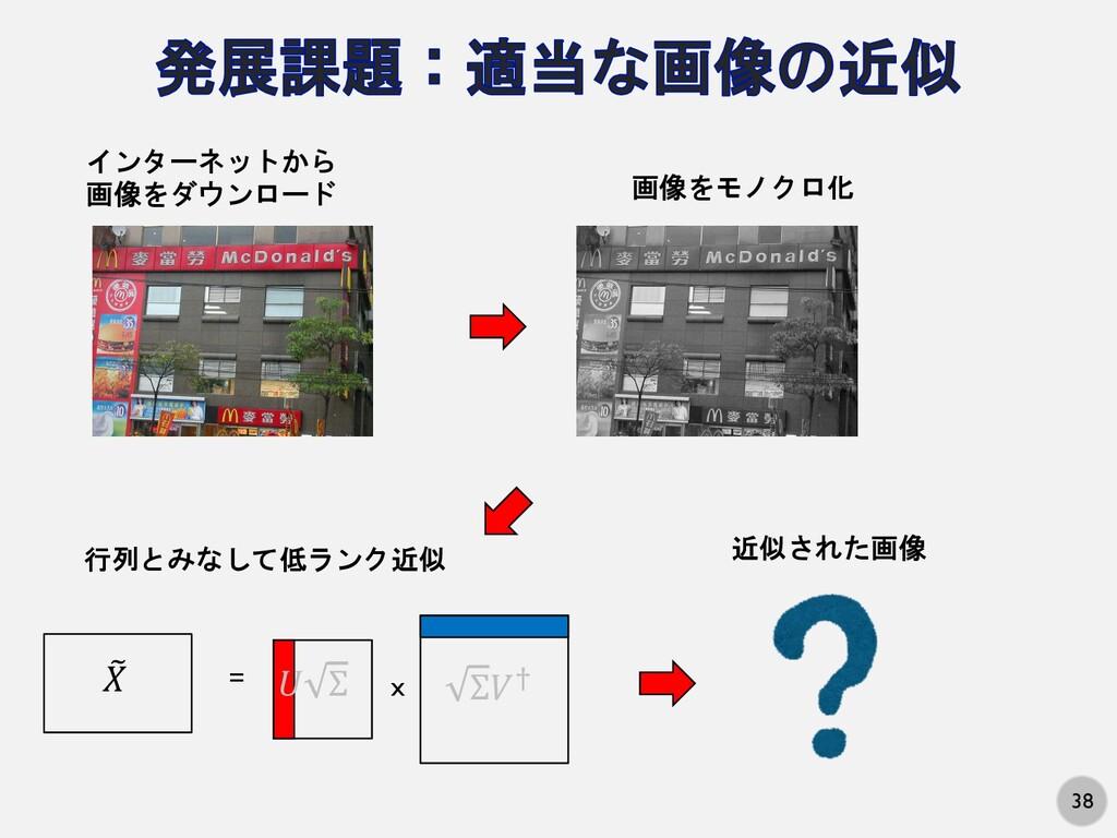 """38 インターネットから 画像をダウンロード 画像をモノクロ化 ! """" = x # Σ Σ%&..."""