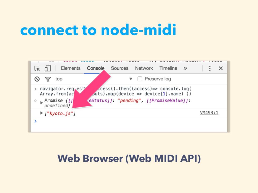 connect to node-midi Web Browser (Web MIDI API)