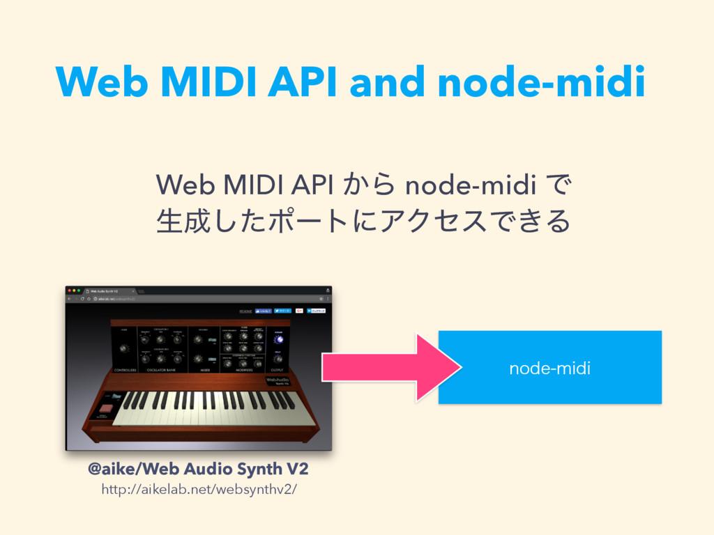 Web MIDI API and node-midi Web MIDI API ͔Β node...