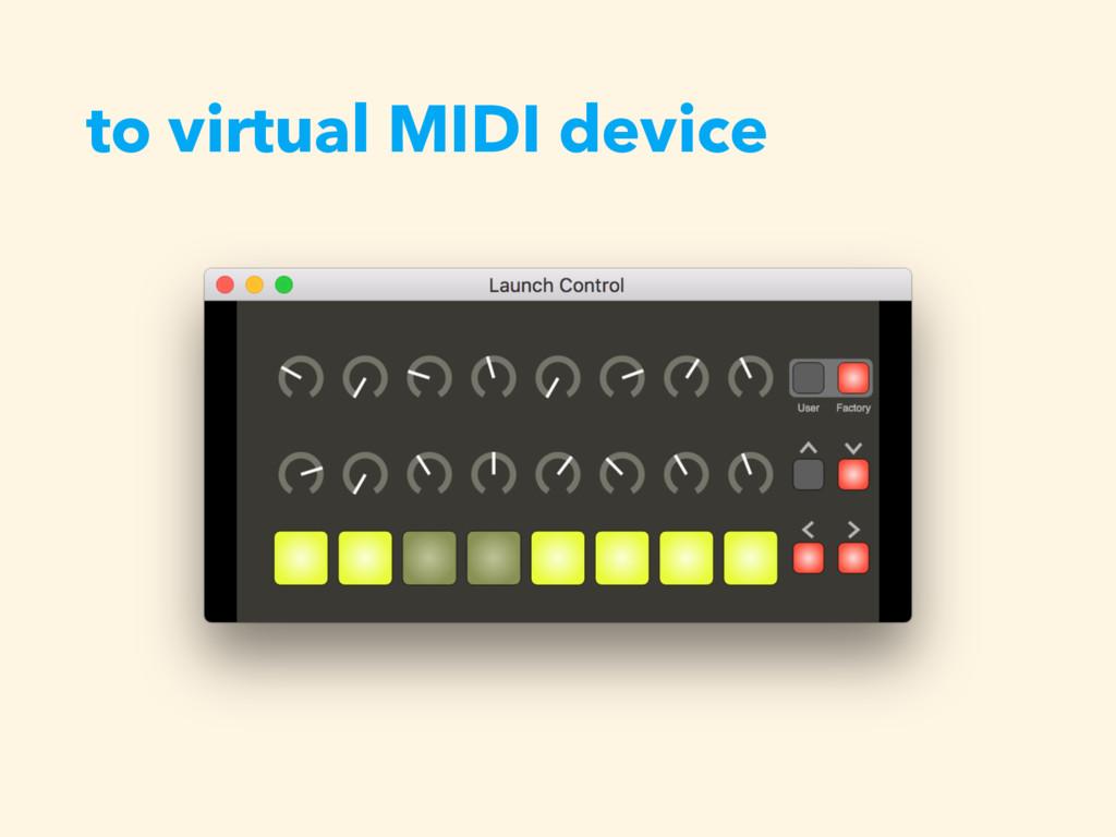to virtual MIDI device