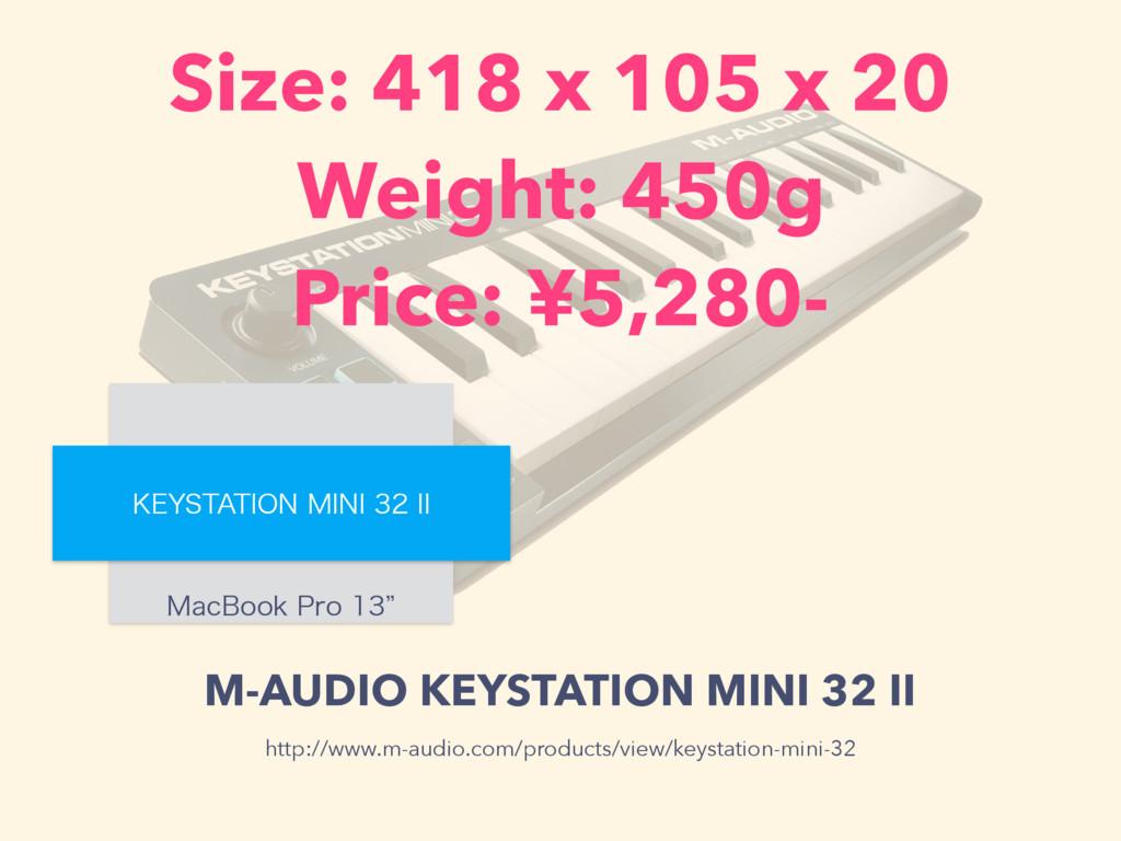 M-AUDIO KEYSTATION MINI 32 II .BD#PPL1SPz ,...