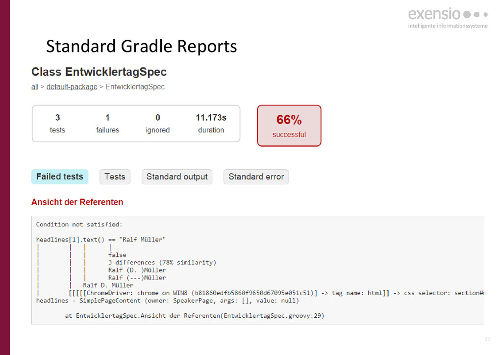 33 Standard Gradle Reports