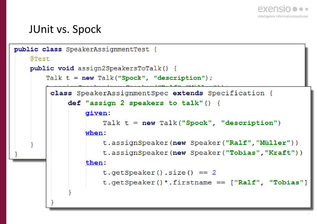 5 JUnit vs. Spock