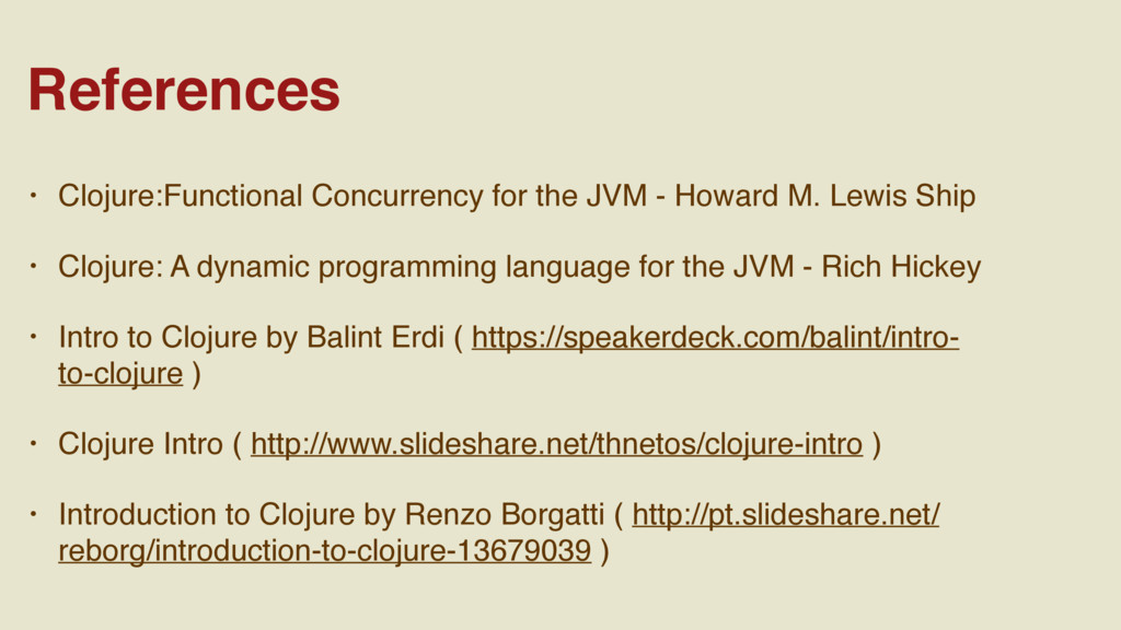 • Clojure:Functional Concurrency for the JVM - ...