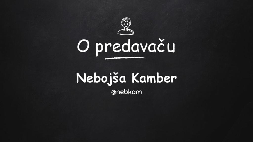 O predavaču Nebojša Kamber @nebkam