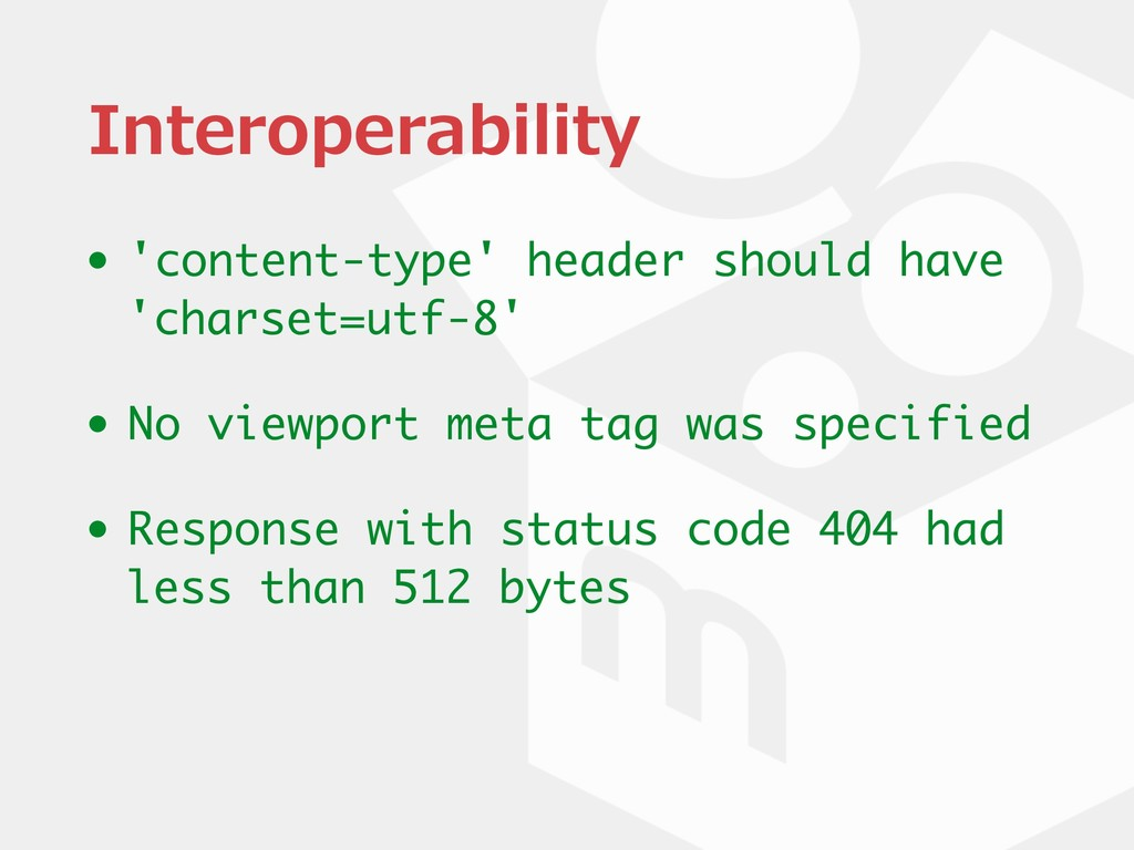 Interoperability • 'content-type' header should...