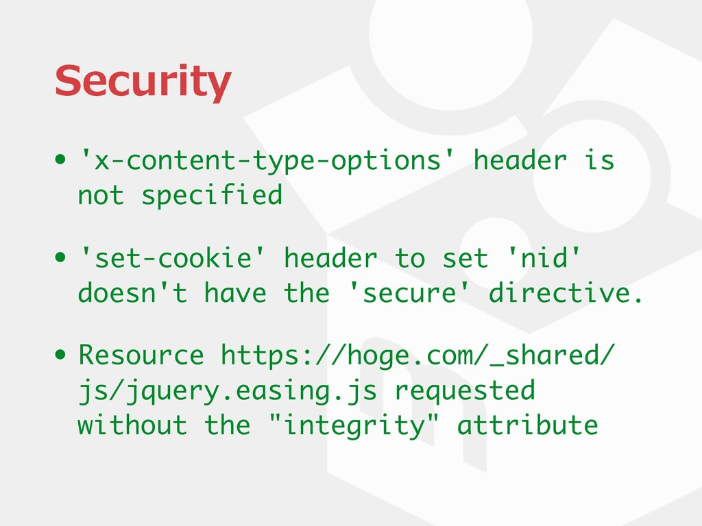 Security • 'x-content-type-options' header is n...