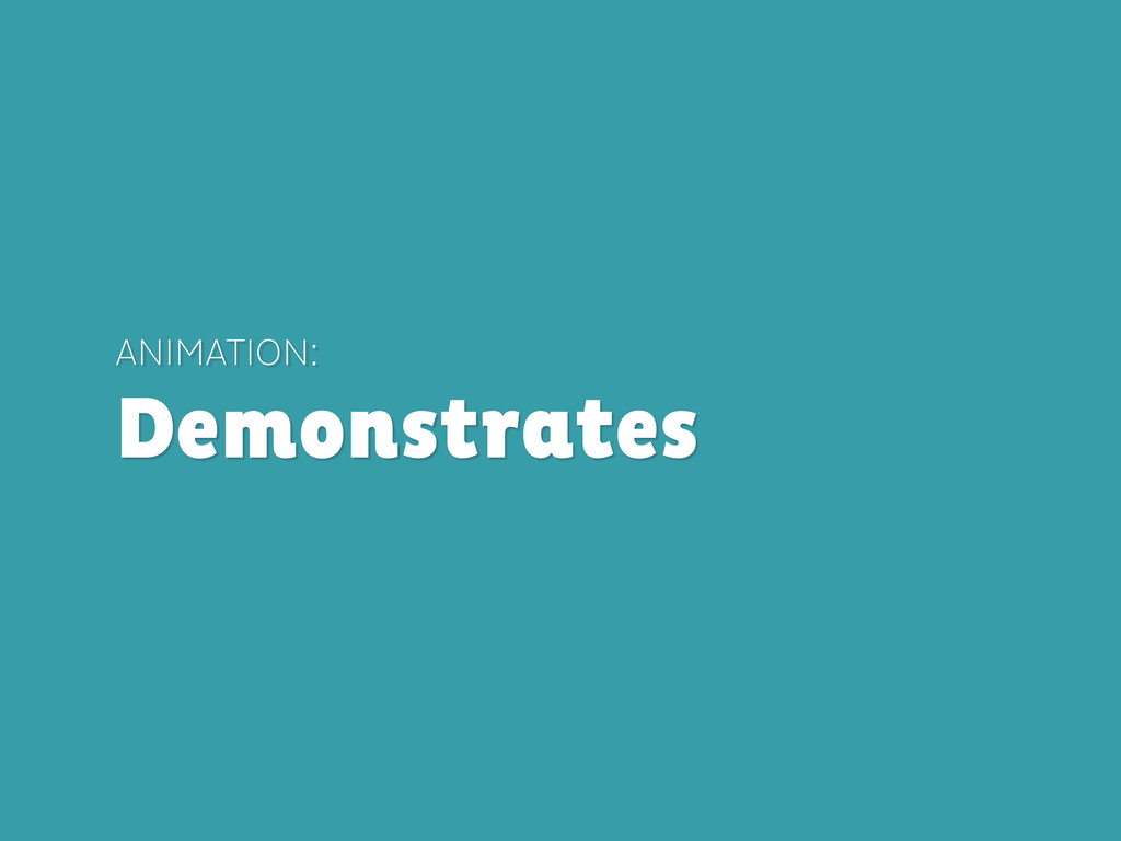 ANIMATION: Demonstrates