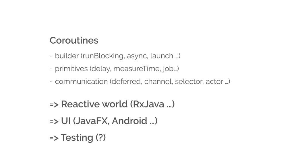 Coroutines - builder (runBlocking, async, launc...