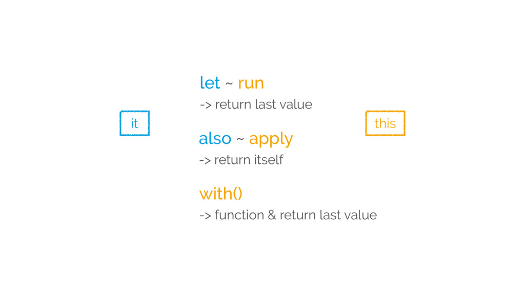 let ~ run -> return last value also ~ apply -> ...