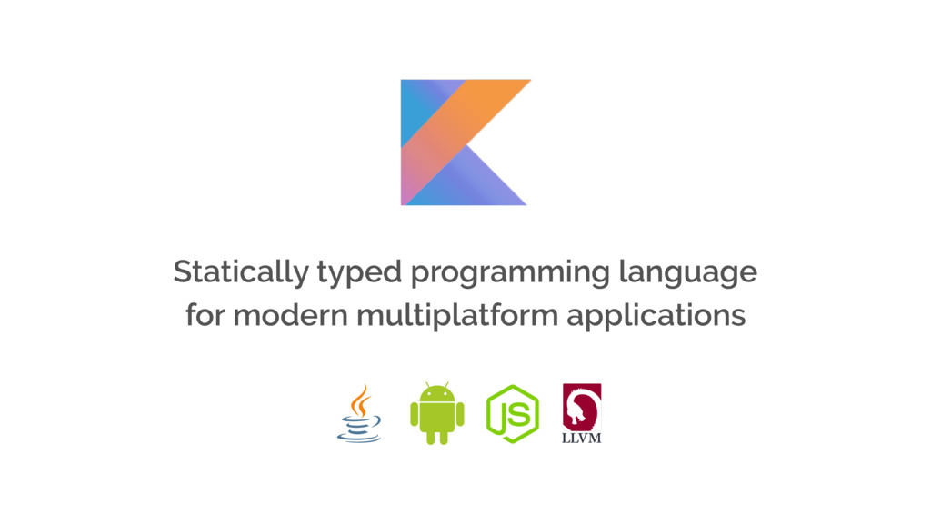 Statically typed programming language for moder...