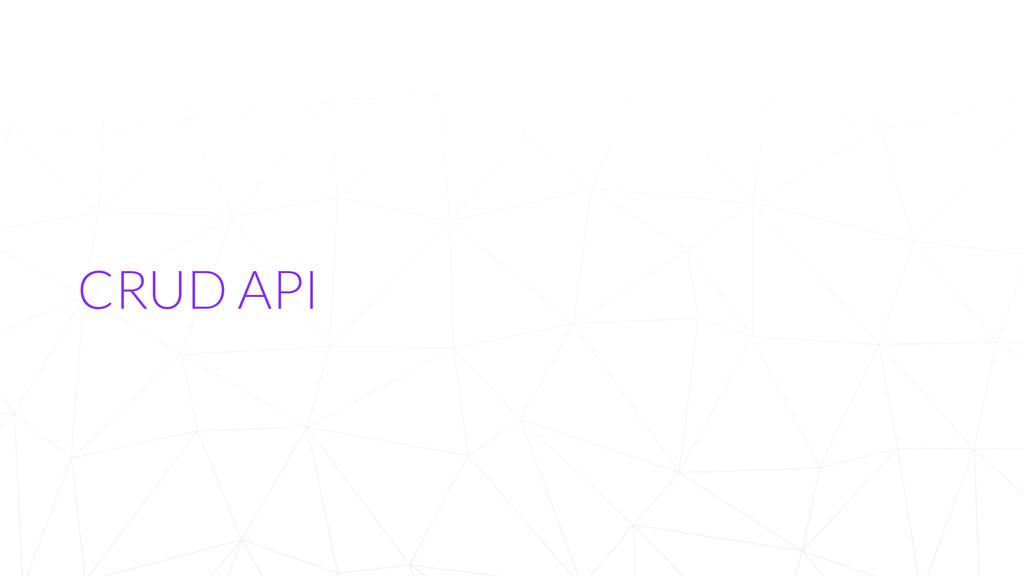 CRUD API