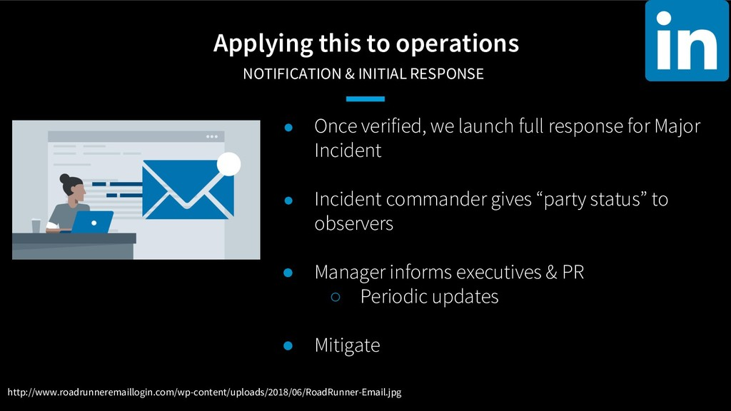 Applying this to operations NOTIFICATION & INI...