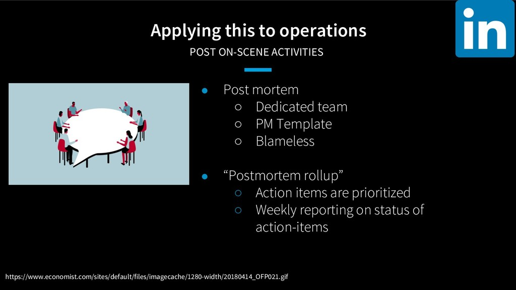 Applying this to operations POST ON-SCENE ACTI...