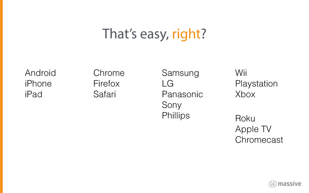 That's easy, right? Android iPhone iPad Chrome ...