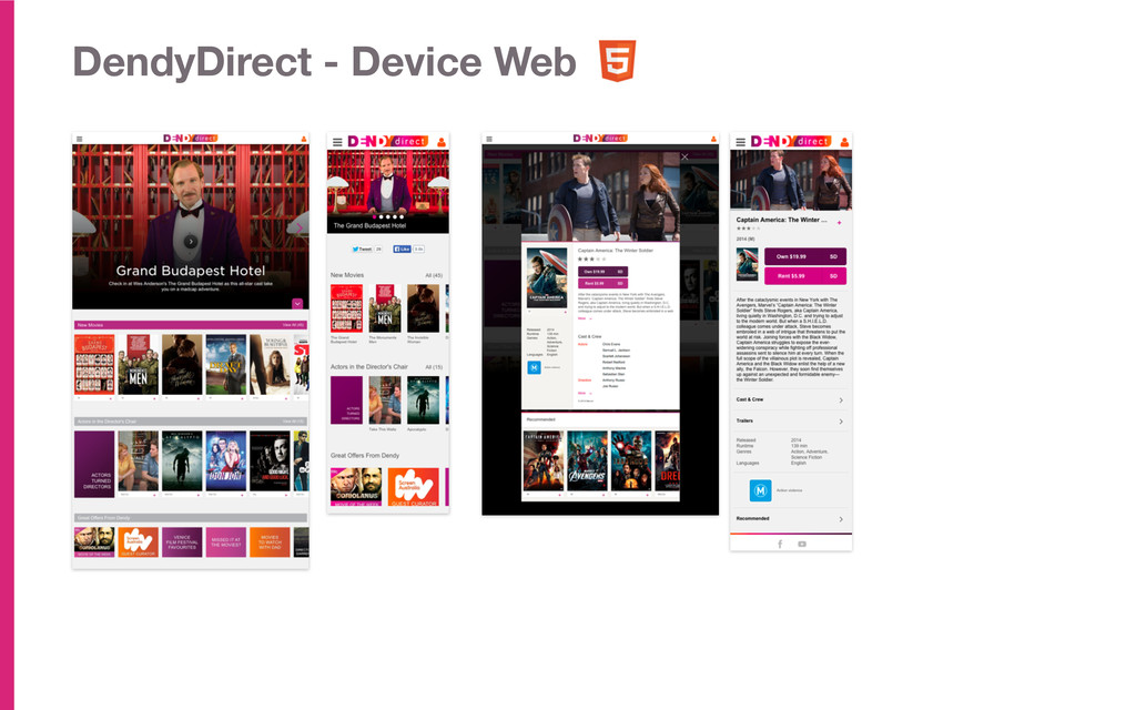 DendyDirect - Device Web