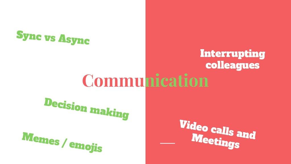 Communication Sync vs Async Interrupting collea...