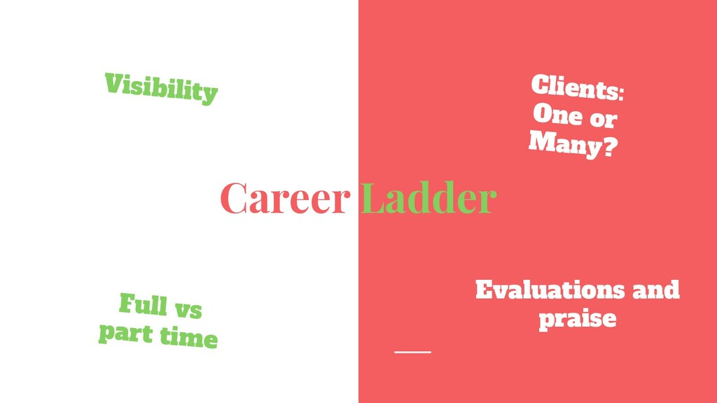 Career Ladder Visibility Clients: One or Many? ...