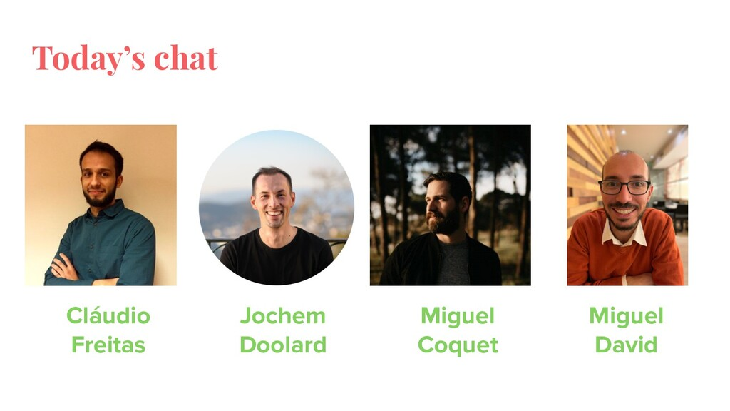 Today's chat Jochem Doolard Cláudio Freitas Mig...