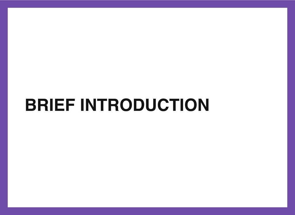 BRIEF INTRODUCTION 3