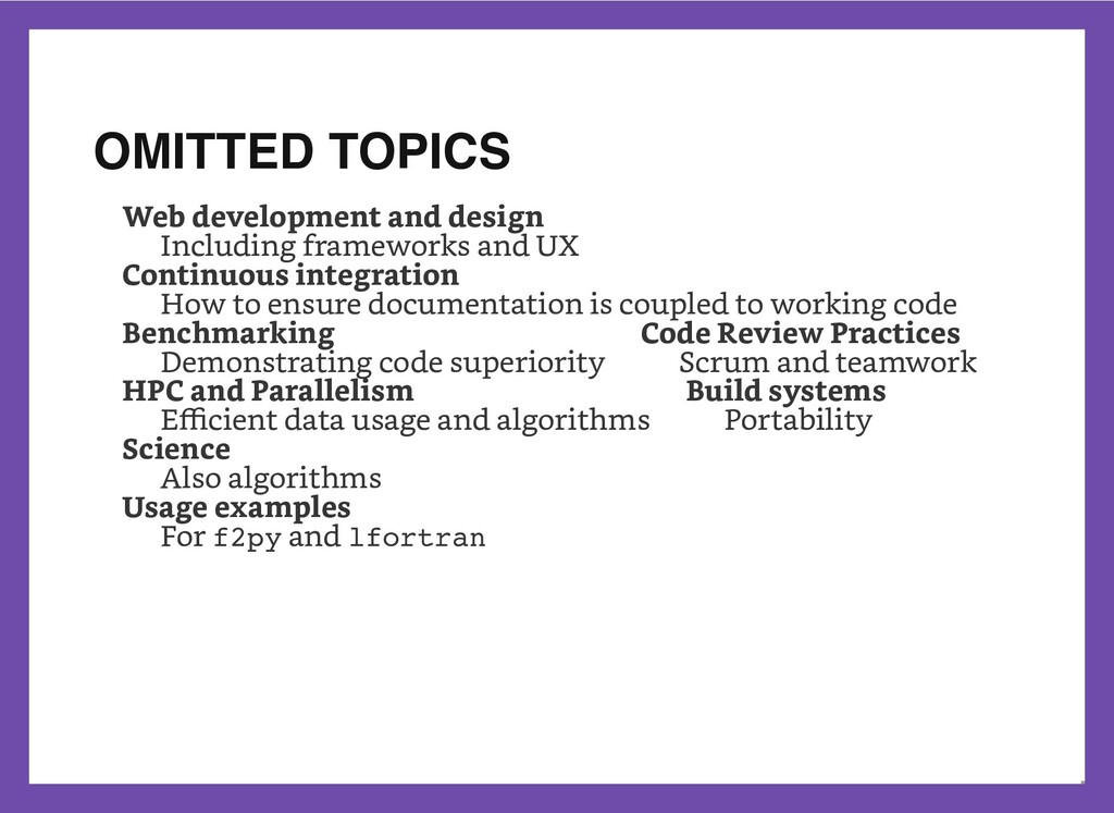 OMITTED TOPICS           Web development and de...