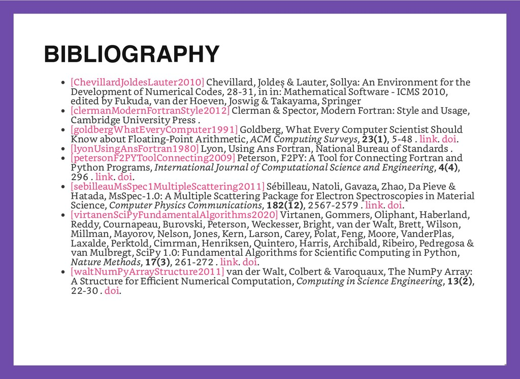BIBLIOGRAPHY Chevillard, Joldeş & Lauter, Solly...