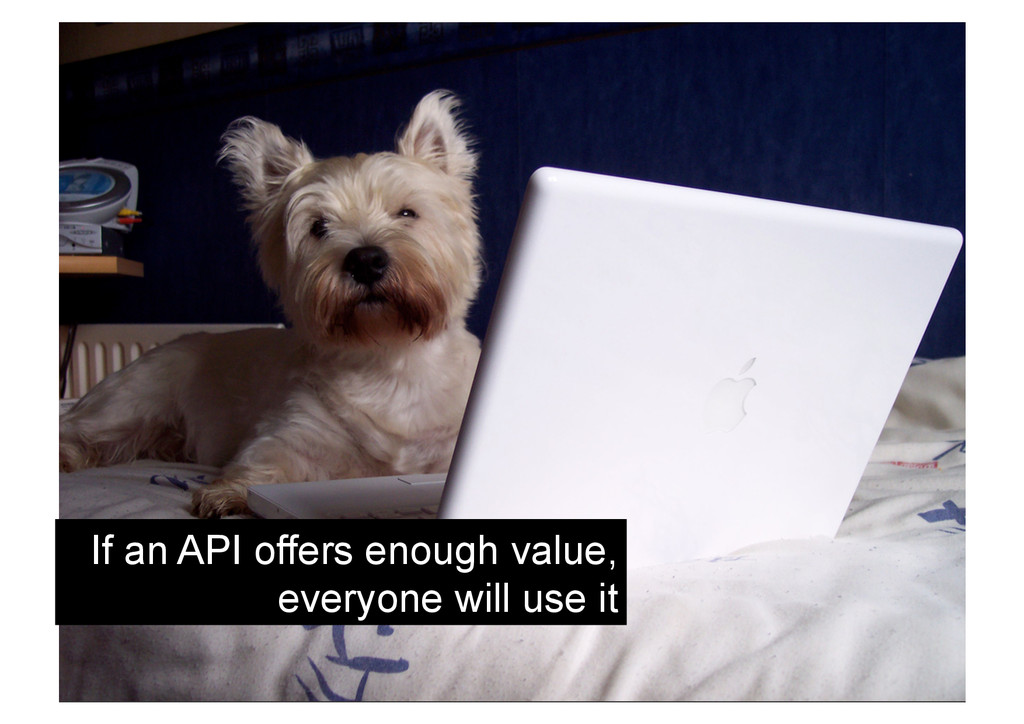 If an API offers enough value, everyone will us...
