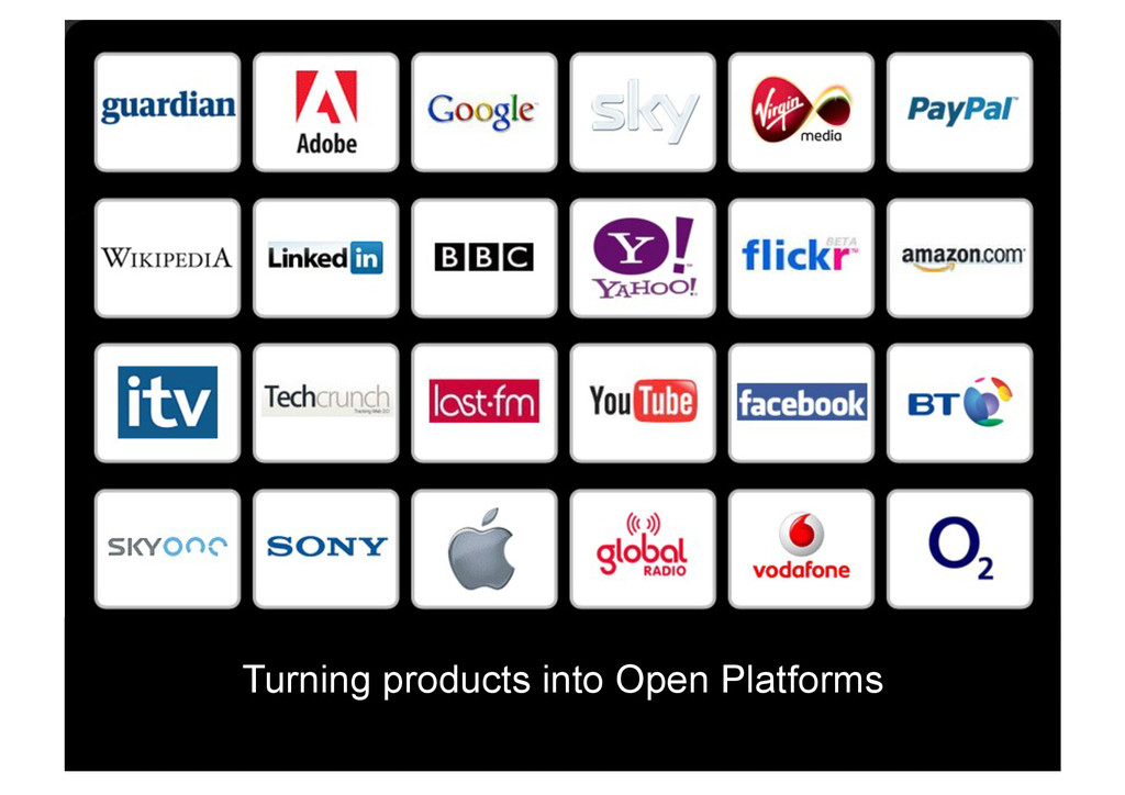 Turning products into Open Platforms