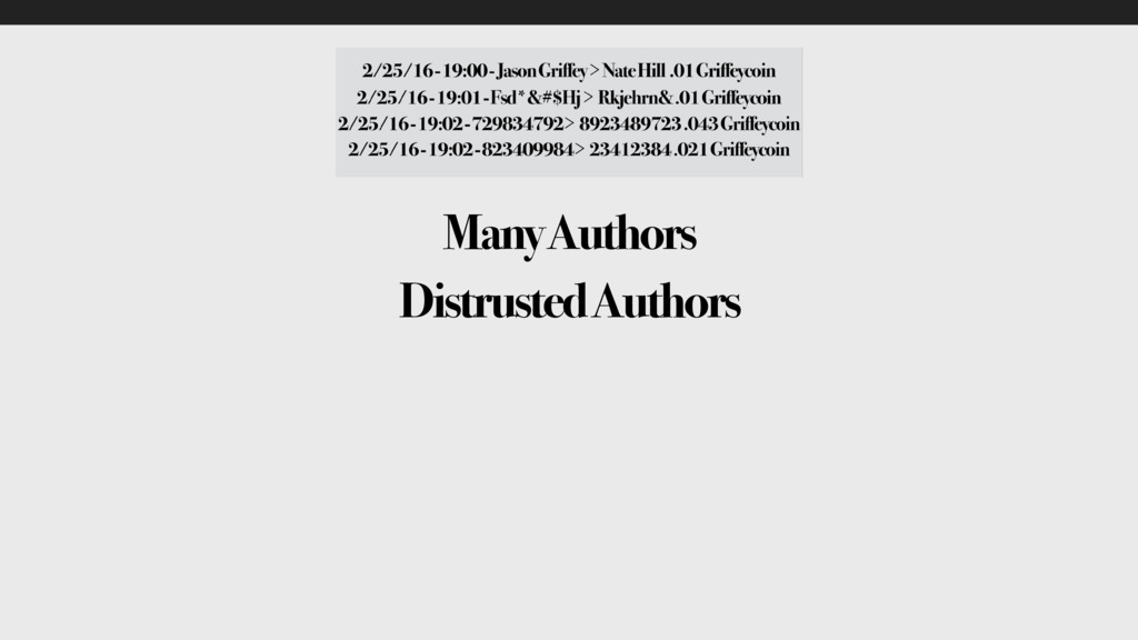 Many Authors Distrusted Authors