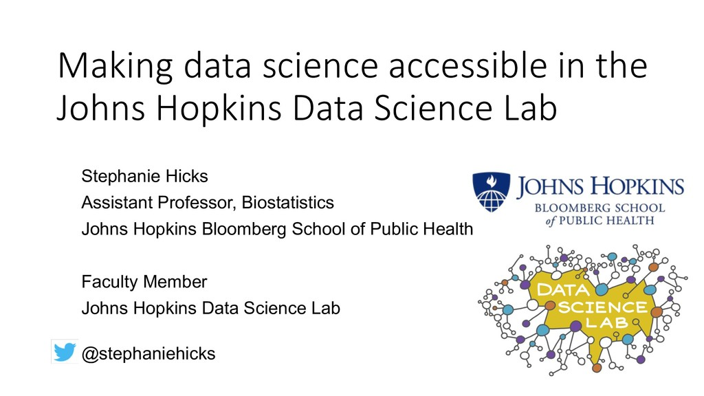 Making data science accessible in the Johns Hop...