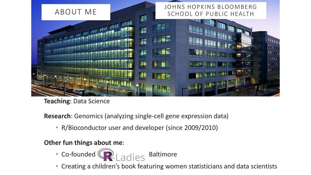 Teaching: Data Science Research: Genomics (anal...