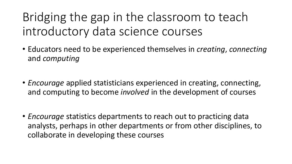 Bridging the gap in the classroom to teach intr...