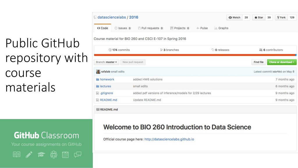 Public GitHub repository with course materials