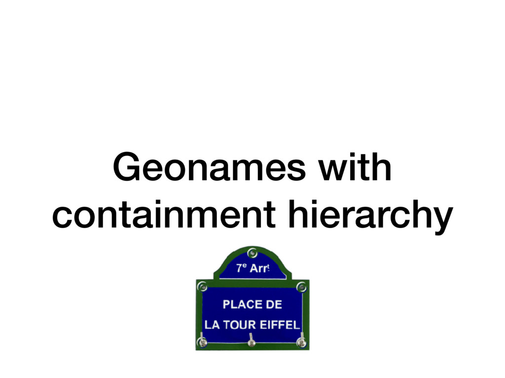 Geonames with containment hierarchy
