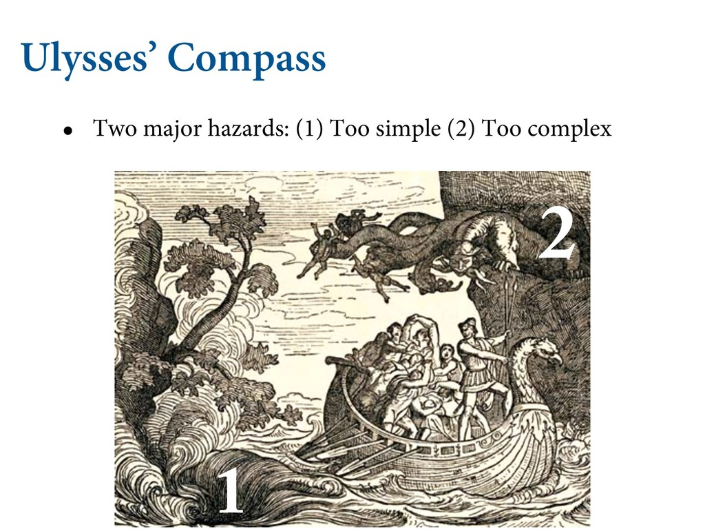 Ulysses' Compass • Two major hazards: (1) Too s...