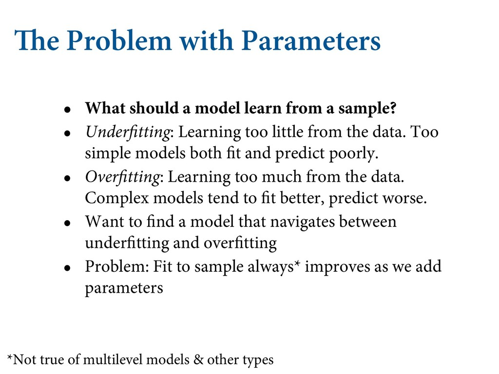 The Problem with Parameters • What should a mod...