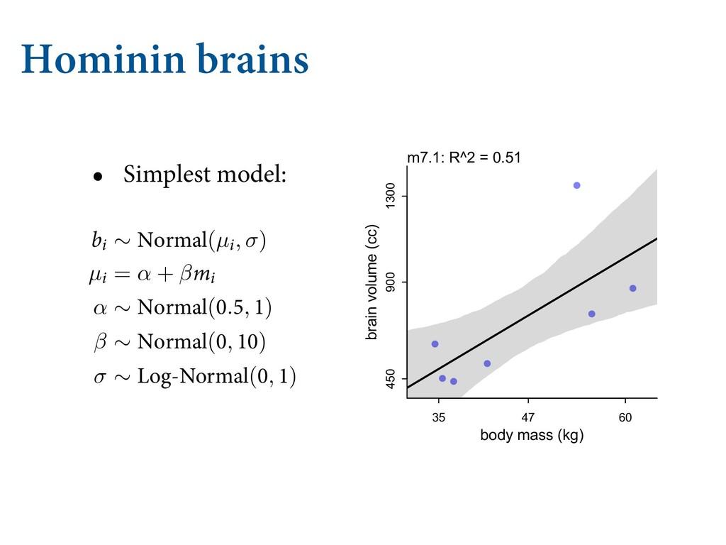 Hominin brains • Simplest model: F JU NFBO [FSP...