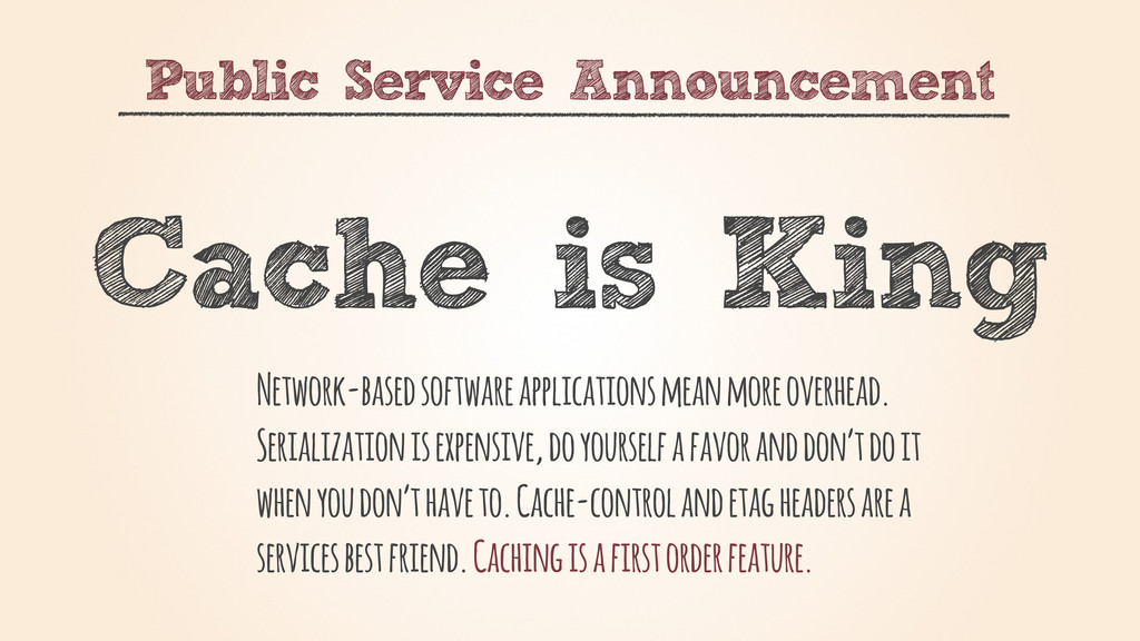 Public Service Announcement Cache is King Netwo...