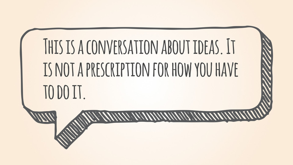 This is a conversation about ideas. It is not a...